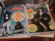 Lot of 2 comics DC: Elvira's House of Mystery (1986) #5 and Elvira #100 Claypool