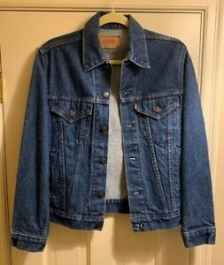 Vintage Levi's 70506-0216 Red Tab Denim Trucker Jean Jacket Size 34R Made In USA