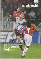 Programme / Programma FC Utrecht v FC Dnipro Dnipropetrovsk 04-11-2004 UEFA Cup