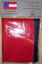 "1ST NATIONAL CONFEDERATE ""STARS & BARS"" 13 STAR CSA SOUTHERN FLAG 3'x5' Flag NEW"