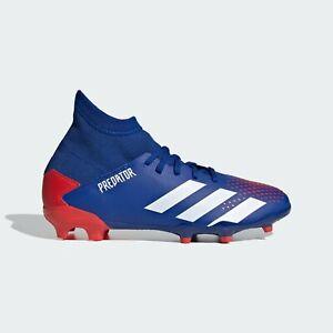 Adidas Kids' PREDATOR 20.3 Firm Ground JR Soccer Cleats Royal Blue/White EG0953