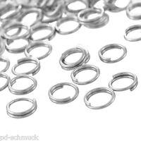 PD: 1000 Edelstahl Spaltringe Binderinge Federringe Ösen Ringe 0.6x5mm