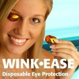 Wink-Ease Disposable Stick on Eye Protection SunBed /Solarium Tanning Goggles