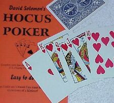 Hocus Poker - Dave Solomon's strong packet poker routine - Bicycle Tmgs