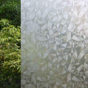 "Rhombus No Glue Static Decorative Privacy Window Films for Glass 17.7""x78.7"""