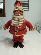 Antique Vintage 18� German Canvas Santa Standing Belsnickle