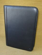 Monarch Size | Black LEATHER FRANKLIN COVEY Notepad/Smartphone Holder Folio