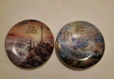 "2pc Set Thomas Kinkade's Collector Plates ""Sunrise"" & ""Yosemite Valley"""