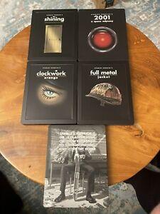 Lot Of 5 Stanley Kubrick Movies Blu-Ray SteelBook WB Shining, Clockwork And More