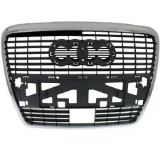 AUDI A6 C6 2005 - 2008 Front Bumper Center Grille with holes for parking sensors