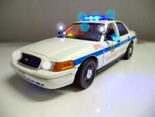 POLICE 1/18 CHICAGO PD  FORD Crown Victoria WORKING LIGHTS SIREN Diecast Car Ut