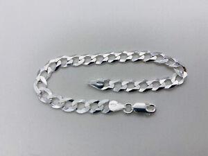 Genuine Solid 925 Sterling SIlver 6.5mm Curb Link Bracelet 7.5 inch New