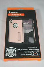 Spigen Slim Armor iPhone X Case-Air Cushion-Hybrid Drop-iPhone X 2017 Rose Gold