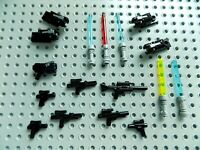 LEGO Star Wars Minifigure Accessory lot of 17 Weapons Blaster Shooter Lightsaber