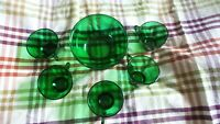 Vintage 5 Emerald Green Coffee or Punch Cups Plus Emerald Green Small Bowl