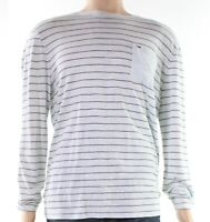 Tommy Hilfiger NEW Blue Mens Size Large L Crewneck Striped Tee T-Shirt $99 242