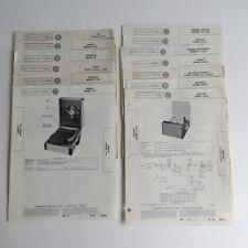 Lot of 13 Turntable Record Player Photofact RCA Philco Zenith GE Masco Hudson ++
