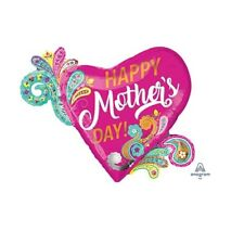 Party Supplies Decorations Mother's Day Paisley Swirls Super Shape Foil Balloon