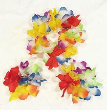 Adult Hawaiian Costume Tropical  Hula Luau Lei Headband Wrist Flower Party Dress