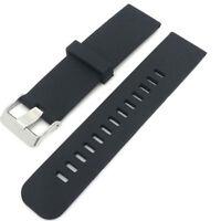 Cinturino silicone 22mm NERO bracciale fascia per Samsung Gear 2 Neo R381 PHS4