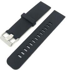 Cinturino silicone 22mm NERO bracciale fascia per LG G W100 W150 W110 PHS4