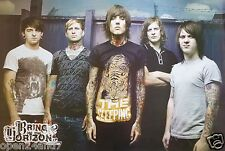 """BRING ME THE HORIZON """"GROUP BY BARBED WIRE WALL"""" ASIAN POSTER - Metalcore Music"""
