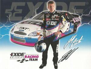 Jeff Burton Autographed 8 1/2 X 11 Postcard Exide 2000 L@@K