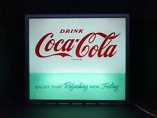 Coca Cola Original VENDING MACHINE FACE PLATE LIGHTED SIGN  / Rare 1950's - 60's