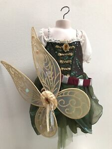 Authentic Disney Store Pirate Fairy Zarina Costume With Wings! - Size 5/6