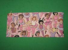 Pencil Case  -Ballerinas  Pink - Cloth Zipper Pouch-Bag-Handmade