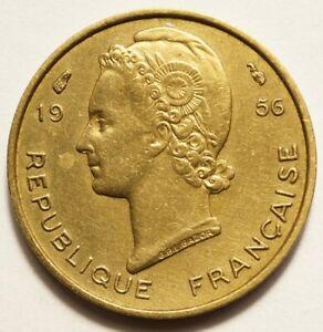 AFRIQUE OCCIDENTALE FRANCAISE : 5 FRANCS 1956