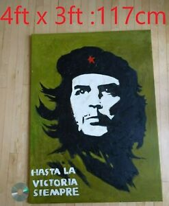 GIANT 4ft Che Guevara 3D Textured Hand Painted Pop Art Framed Canvas Painting