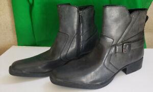 Rock & Republic Grey Zippered Boots Men's Size 13 Med RRARCHORGREY