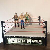Rare Vintage WWF Wrestling Ring 1998 Jakks Pacific WrestleMania + Figures WWE