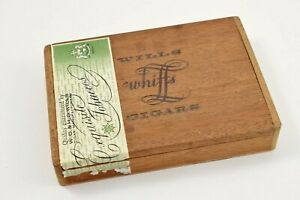WD & HO Wills Whiffs Vintage Cigar Box - Wooden with flip lid and label   #W46-4