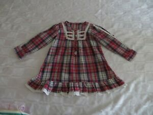 GIRLS 3-4 YEARS CHECK DRESS roll up sleeves