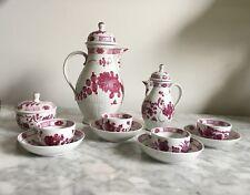 Antique Meissen-type German Rauenstein Coffee Tea Service c. 1780