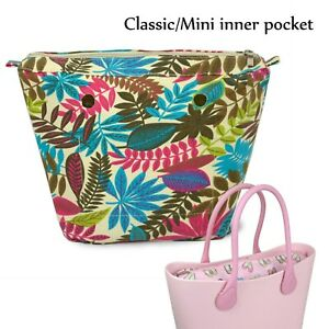 New Colorful Waterproof Insert Zipper Canvas Inner Pocket for Classic Mini Obag
