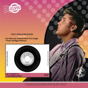 St. Vincent 2017 - Elvis Presley, First Single Released - Souvenir Sheet - MNH