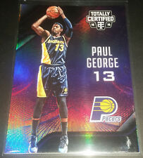 Paul George 2015-16 Totally Certified MIRROR PURPLE Parallel Card (#'d 30/50)