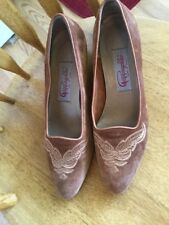 Vintage Pappagallo Suede Shoes Women's Size 9.5 M