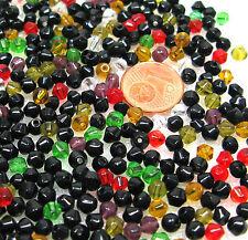 Glasperlen 500 Stück Perlen bunt gemischt Rhomben Glasperlenmix 1