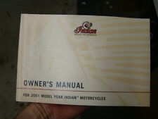 NEW Indian Motorcycle owner's manual 2001 catalog Chief Scout NOS 02307