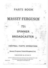 Massey Ferguson 721 Spinner Broadcaster Fertilizer Spreader Parts Manual - MF721