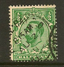 GB : Downey Head 1911 Die 1A 1/2d  bluish- green  SG N1(4)  used