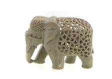Statue Elephant en Pierre Porte Bonheur Inde-stone Elephant Carving - 5883