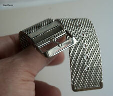 30mm Heavy Stainless Steel Shark Mesh Watch Band, Deisel dz7092 Men +spring bars