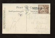 GB 1924 WEMBLEY PPC AUSTRALIA..ARTIST 1 1/2d to BELGIUM