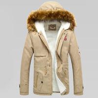 2018 Hombre cálido de invierno Abrigo Grueso Con Capucha Parka chaqueta suéter