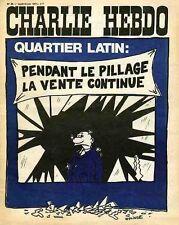 """""""CHARLIE HEBDO N°30 du 14/6/1971"""" WOLINSKI: PENDANT LE PILLAGE LA VENTE CONTINUE"""